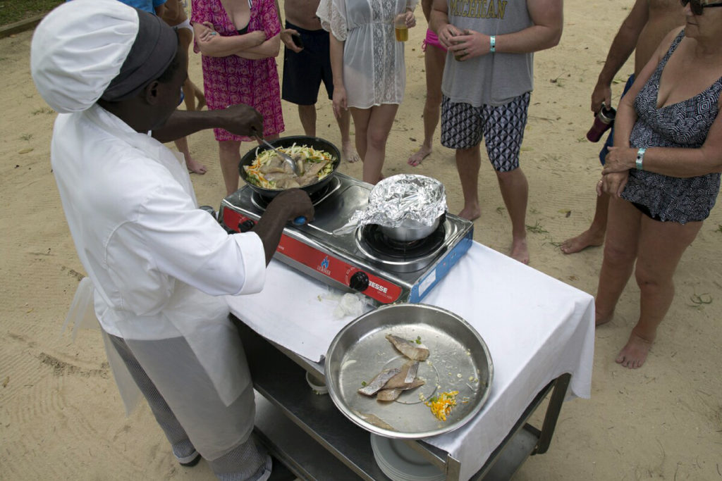 A Cooking Class on the Beach